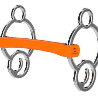 Winderen Orange Gel Bit Flexi Mullen Mouth 2.5 Ring
