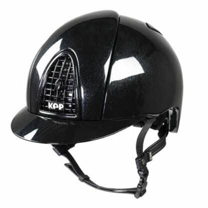 KEP Polish Shine Metal Glossy Regular Brim Helmet with Shiny Visor Brim
